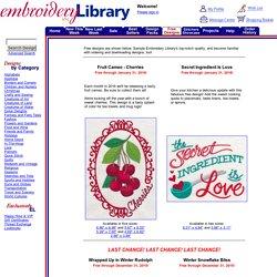 - Free Machine Embroidery Designs
