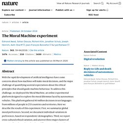 The Moral Machine experiment
