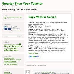 Copy Machine Genius - Smarter than your Teacher