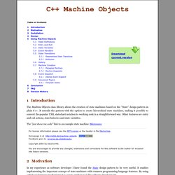 Machine Objects - Hierarchical state machines in C++
