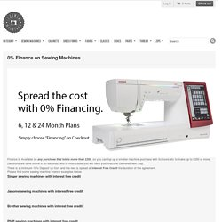 Buy sewing machine on finance