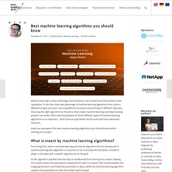 Best machine learning algorithms you should know – Data Science Blog