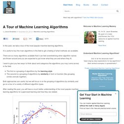 most popular machine learning algorithms