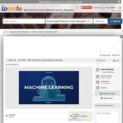 Why Should You Learn Machine Learning?