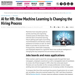 AI for HR: How Machine Learning Is Changing the Hiring Process