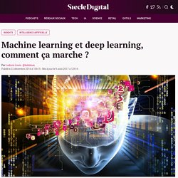 Machine learning et deep learning, comment ça marche ?