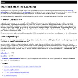 Machine Learning - complete course notes