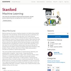 Machine Learning - Stanford University