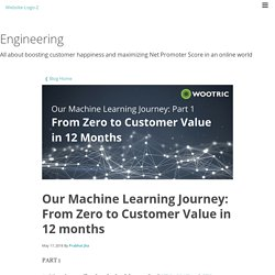 Our Machine Learning Journey: From Zero to Customer Value in 12 months