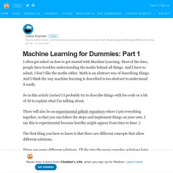 Machine Learning for Dummies: Part 1 – Chatbot's Life