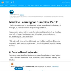 Machine Learning for Dummies: Part 2 – Chatbot's Life