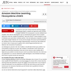 Amazon Machine Learning, l'écosystème d'AWS