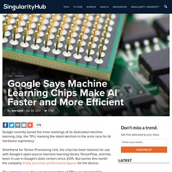 Google Says Machine Learning Chips Make AI Faster and More Efficient