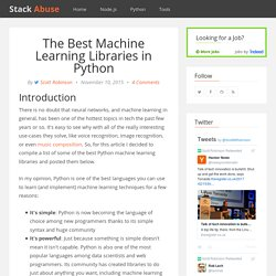 The Best Machine Learning Libraries in Python