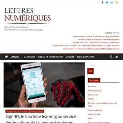 Sign-IO, le machine learning au service des locuteurs de la langue des signes