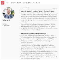 Basic Machine Learning With K Nearest Neighbor and Racket