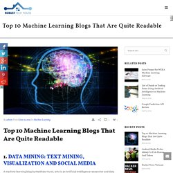 Top 10 Machine Learning Blogs That Are Quite Readable
