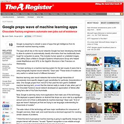 Google preps wave of machine learning apps