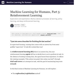Machine Learning for Humans, Part 5: Reinforcement Learning
