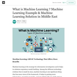 What is Machine Learning ? Machine Learning Example & Machine Learning Solution in Middle East