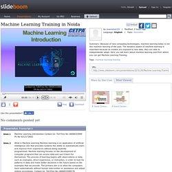 Machine Learning Training in Noida