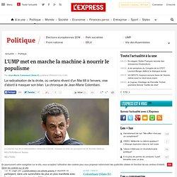 L'UMP met en marche la machine à nourrir le populisme