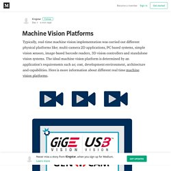 Machine Vision Platforms