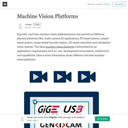 Machine Vision Platforms – Kingstar