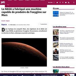 Cette machine pourra produire de l'oxygène sur Mars