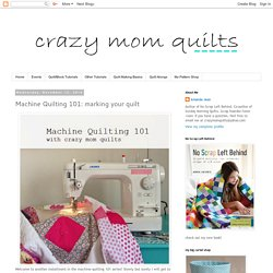 marking your quilt