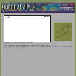 Machine Quilting - Topics - Quilting Daily