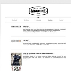 Machine Shop | Headlines