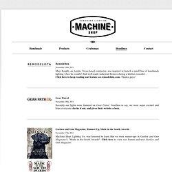 Machine Shop | Headlines
