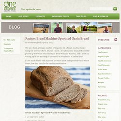 Recipe: Bread Machine Sprouted Grain Bread