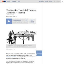 The Machine That Tried To Scan The Brain — In 1882