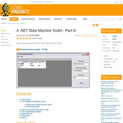 A .NET State Machine Toolkit - Part III