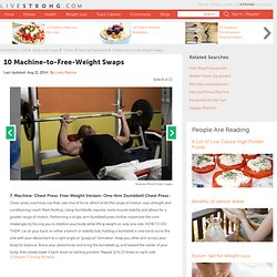 10 Machine-to-Free-Weight Swaps