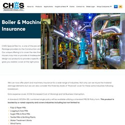 Boiler and Machinery Insurance in canada