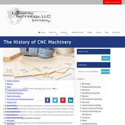 The History of CNC Machinery