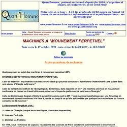 MACHINES A MOUVEMENT PERPETUEL