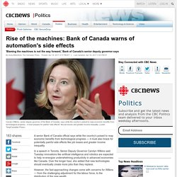 Rise of the machines: Bank of Canada warns of automation's side effects