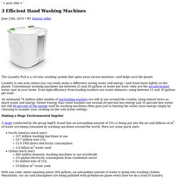 3 Hard-Working Hand Washing Machines