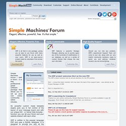 Home of SMF: Free PHP and MySQL forum software