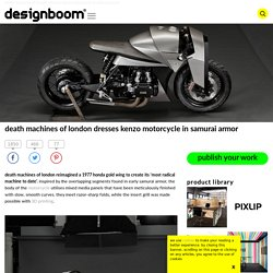 death machines of london dresses kenzo motorcycle in samurai armor