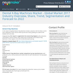 Dental X-Ray Machines Market - Global Market 2017 Industry Overview, Share, Trend, Segmentation and Forecast to 2022
