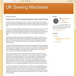 UK Sewing Machines: Inspire Your Child's Sewing Experience with a Real Project