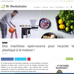 Ecologie 0poule0 pearltrees - Machine a recycler le plastique ...