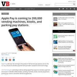 Apple Pay is coming to 200,000 vending machines, kiosks, and parking pay stations
