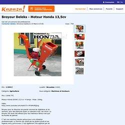 Broyeur Deleks - Moteur Honda 13,5cv, Machines et tracteurs, Bruxelles