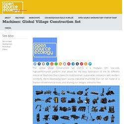 Machines: Global Village Construction Set